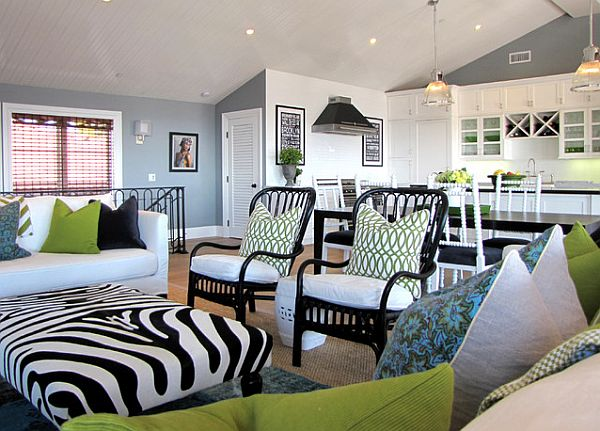 Traditional-living-space-with-green-white-and-black-patterns