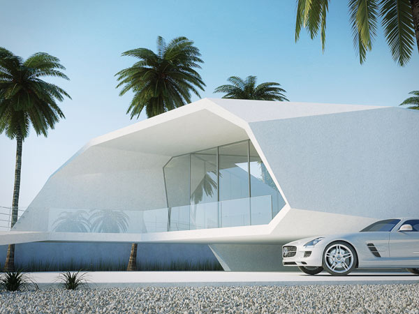 Wave House Minimalist summer getaway 1 Minimalist Summer Getaway Styled Like a Crashing Wave