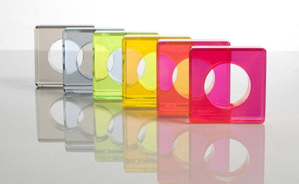 acrylic geometric napkin rings