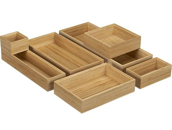 bamboo drawer organizers