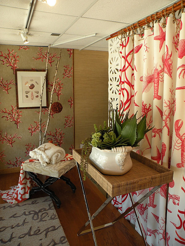 Crate And Barrel Curtain Rods Coral and Gray Curtains