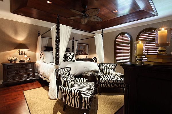 View in gallery Beautiful african inspired bedroom with an ornamental canopy  bed. Stylish Canopy Beds Inspiration For Your Bedroom