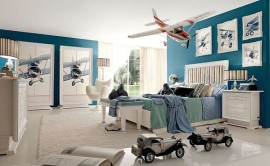 Beautiful machinery inspired kids bedroom