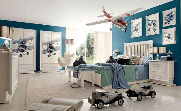Beautiful machinery inspired kids bedroom