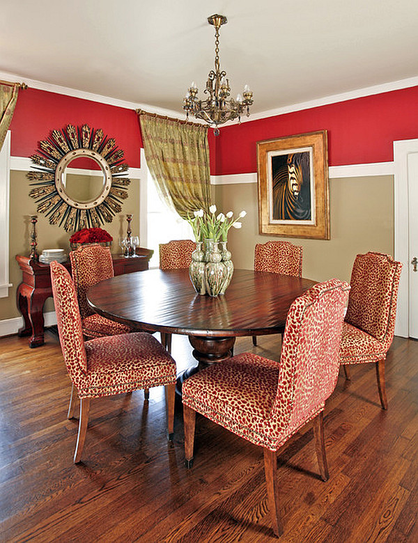 How to pull off two toned walls - Red dining room color ideas ...