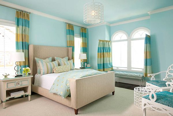 blue themed teen bedroom design