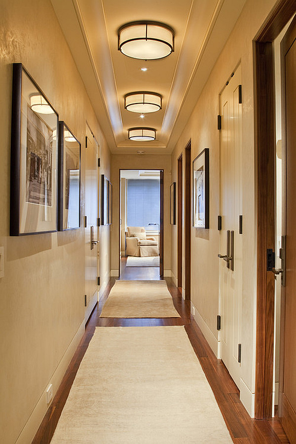 Bright hallway with neutral colors