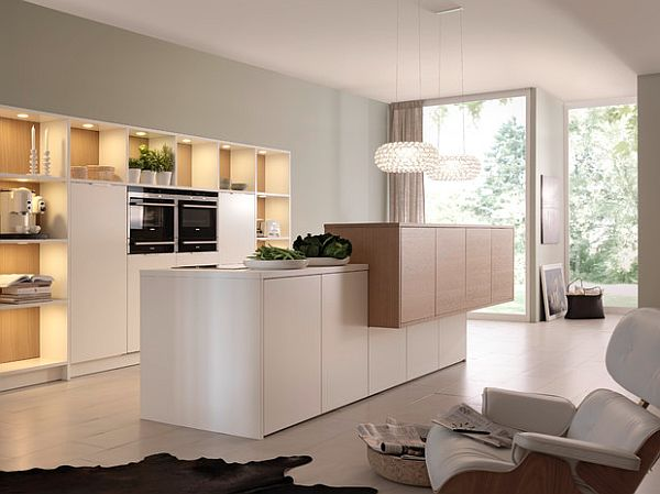 caboche pendant lamp in sleek white kitchen design