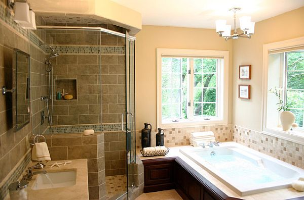 Inexpensive bathroom makeover ideas for Badezimmer design accessoires