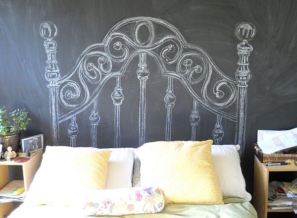 chalkboard headboard
