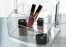 clear makeup caddy