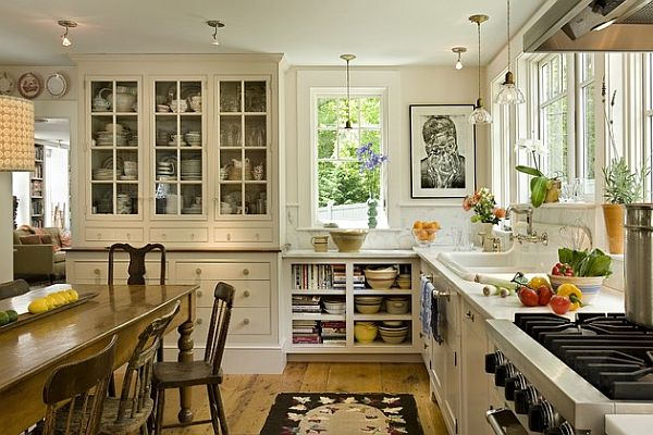 colorful traditional kitchen Five Tricks to Bring Back the Farmhouse Charm into Your Kitchen
