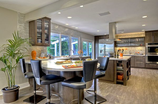 contemporary kitchen lighting halogen lamps and recessed lights Kitchen and Dining Area Lighting Solutions; How to Do It in Style?