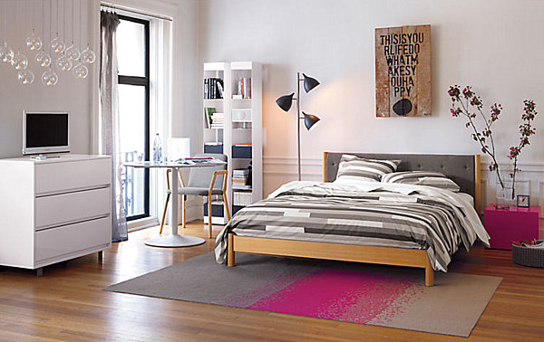 contemporary teen bedroom
