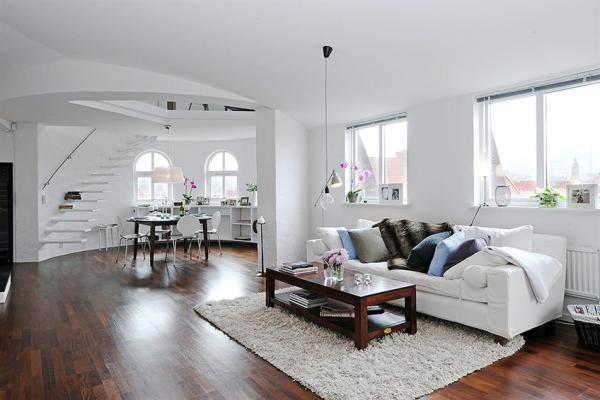 conteporary Scandinavian living room