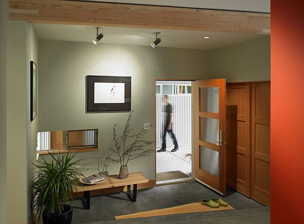 A very cool entryway design idea