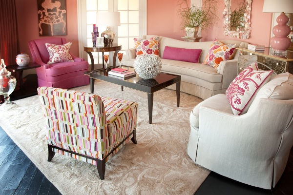 Curtains Ideas moroccan pattern curtains : Decorating with Shades of Coral