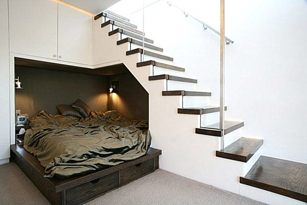 Corner Alcove By Stairs