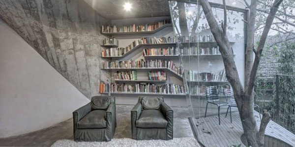 Unusual Home Library Furniture Home Library Design With Two Sides