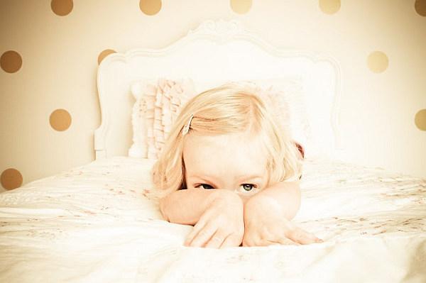 cute bedroom polka dots