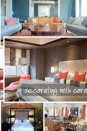decorating with coral