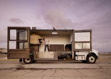 Repurposed Shipping Container Turns Into Vibrant Pizza House on Wheels