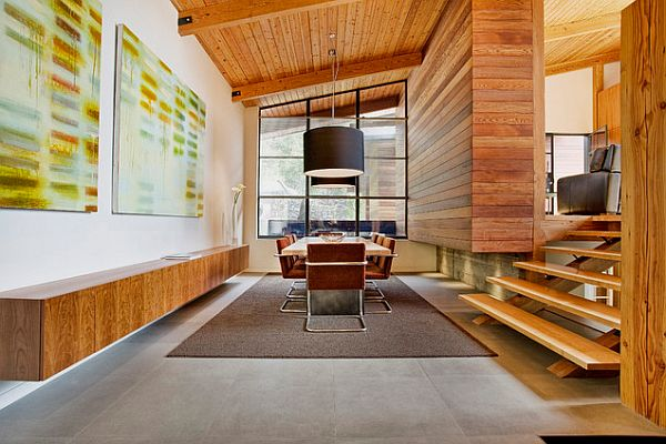 dining-space-with-wooden-walls