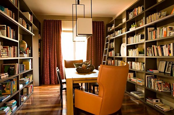 back to creative home library designs for a unique atmosphere
