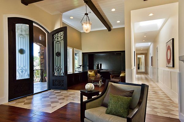 tile design ideas for entryway foyer furniture small couch and