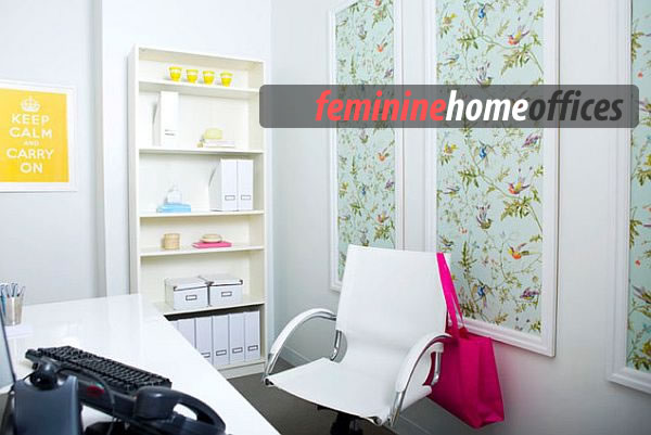 feminine home office  Feminine Home Office Designs and How to Pull it Off