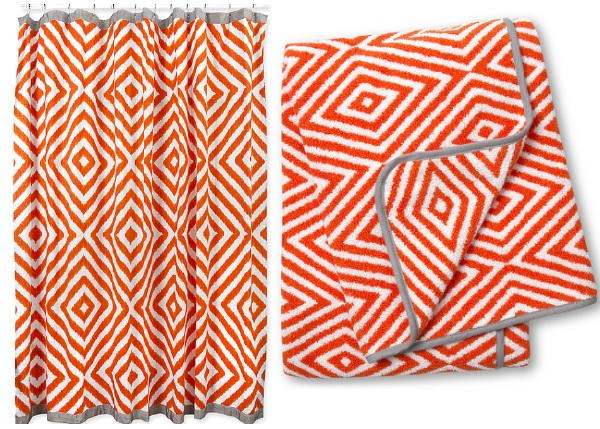 orange and grey bathroom accessories. Grey Bathroom Orange  Shape Up Your Space With Geometric Decor Orange And Grey Bathroom My Web Value