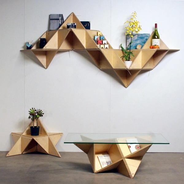 geometric shelf Shape Up Your Space With Geometric Decor