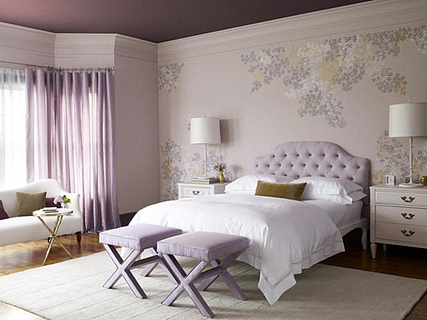 Some Teens Feel At Home When Surrounded By Elegance. The Lavender Room  Below Is Soothing, And Hollywood Regency Touches Like The Upholstered  Headboard ...