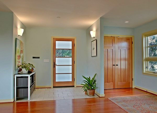 View In Gallery Full Light Glass Entry Door With Wood Trim In A Very  Inviting Entryway
