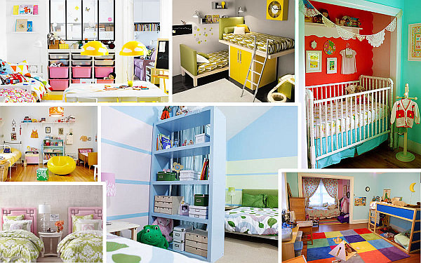 Pics Photos Funny Shared Kids Bedroom Designing Ideas With White Wooden Lof