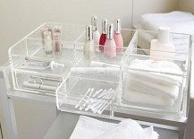 large clear makeup storage