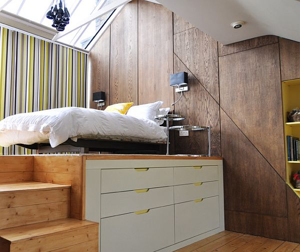 loft style bedroom Four Tips to Create the Illusion of Space in your Loft