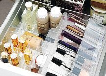makeup drawer organizer 217x155 20 Marvelous Makeup Storage Ideas