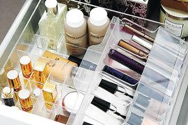 makeup drawer organizer 270x180 20 Marvelous Makeup Storage Ideas
