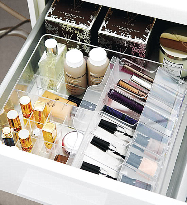 Clear Makeup Organizers. 20 Marvelous Makeup Storage Ideas