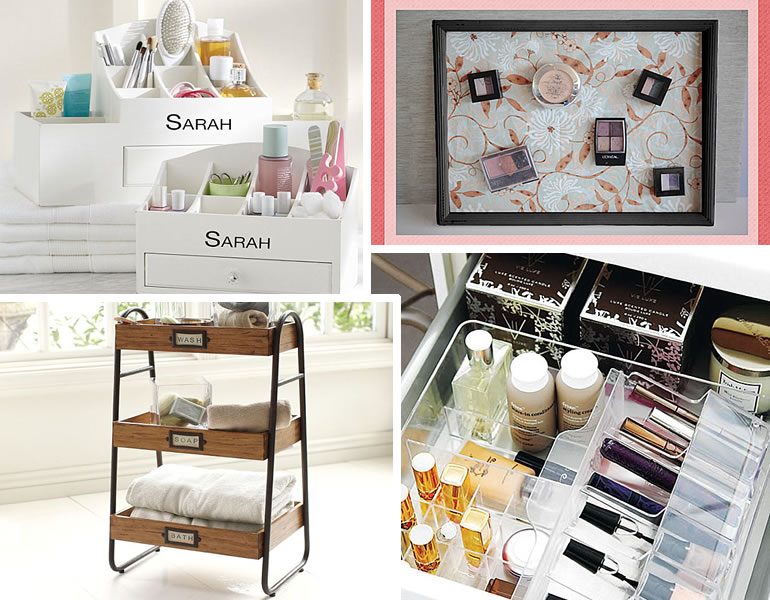 Makeup storage ideas sheer nonsense Makeup organizer ideas