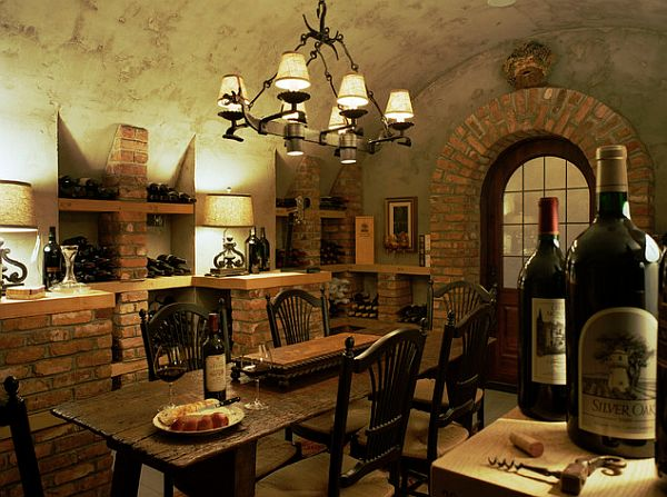 mediterranean decoration ideas wine room