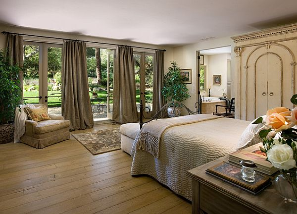 mediterranean influence large bedroom design
