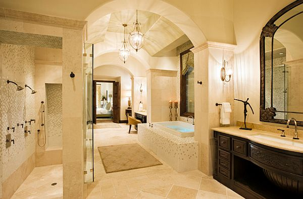24 Stunning Luxury Bathroom Ideas For His And Hers: Decorating With A Mediterranean Influence: 30 Inspiring