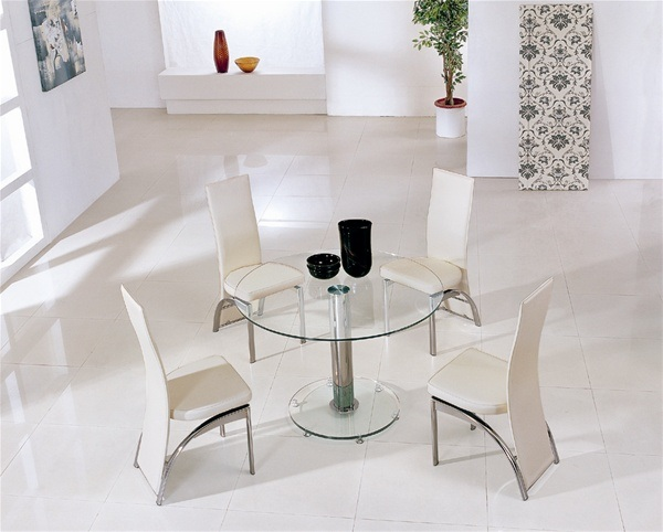 18 Sleek Glass Dining Tables : mini glass round dining table from www.decoist.com size 600 x 482 jpeg 77kB