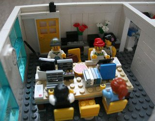 Office Space Made from Lego Bricks at Yard Digital in Edinburgh