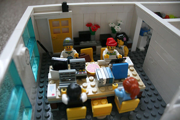 miniature Lego office Yard Digital 1 Office Space Made from Lego Bricks at Yard Digital in Edinburgh