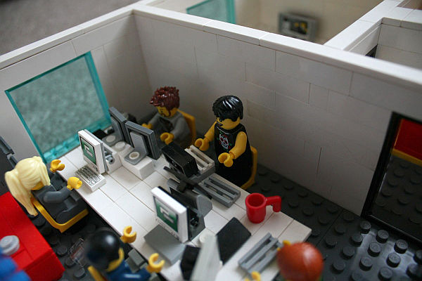Office Space Made From Lego Bricks At Yard Digital In