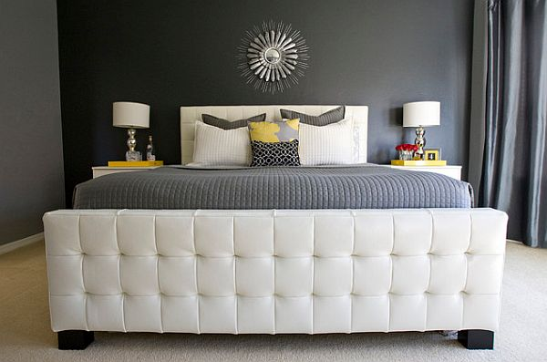 modern bedroom with yellow grey and white color scheme New Color Combinations for a Brilliant Decor