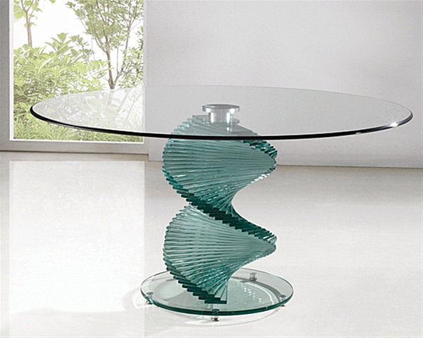 18 sleek glass dining tables for Contemporary glass top coffee table